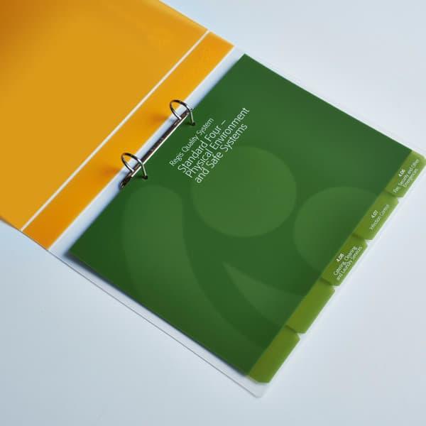 6 Degrees Tab Ring binder folder