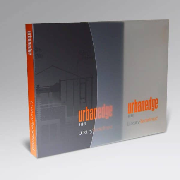 Urbanedge Ring folder and frosted clear slip case
